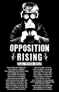 OPPOSITION RISING Tour Poster 2013