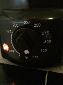 Heat Oil to 375º F